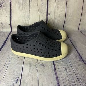 Native Child's Black Water Shoes Size 10